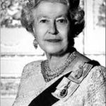 Queen Elizabeth II black and white